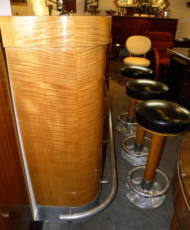 Art Deco Mid Century Blonde Stand Behind Bar For Sale At