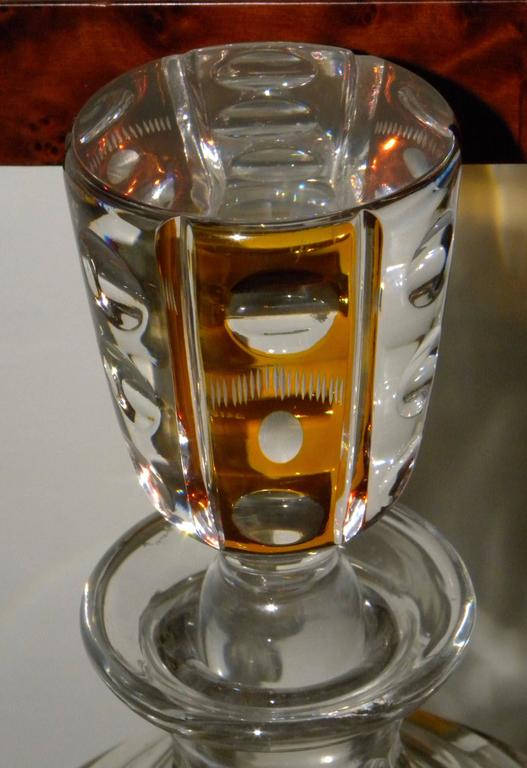Mid-20th Century Art Deco Tantalus Set with Cut Crystal Decanters For Sale