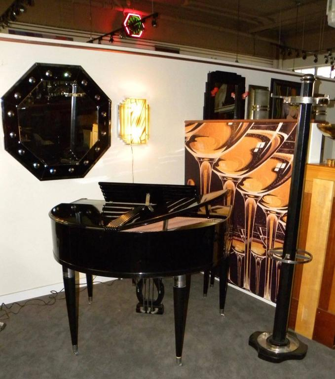 wurlitzer butterfly piano baby grand art deco streamline for sale at 1stdibs. Black Bedroom Furniture Sets. Home Design Ideas