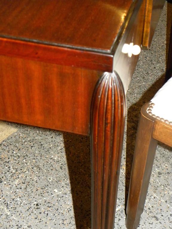 Petite Art Deco Desk Vanity Ruhlmann Style Mahogany