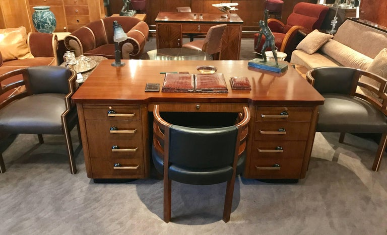 Professional Art Deco Desk By Stow And Davis At 1stdibs