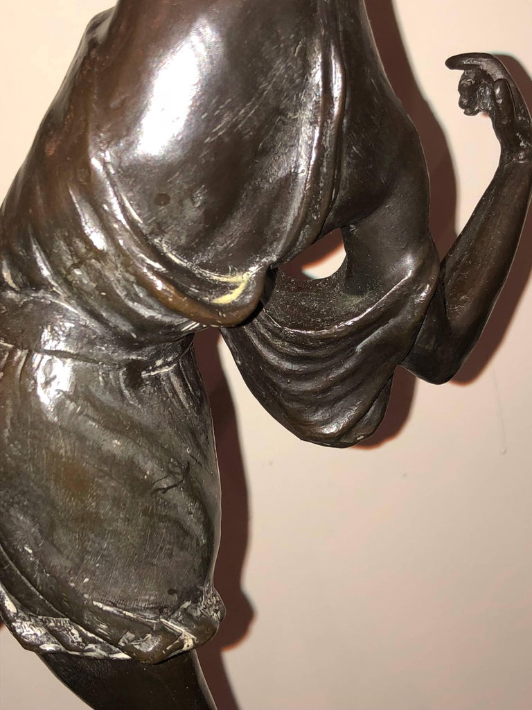Diana the Huntress Art Deco Bronze Sculpture by Pierre Le Faguays For Sale 2
