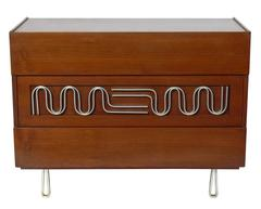 Three-Drawer Chest with Sculptural Hardware by Edmund Spence