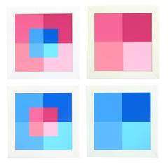 Josef Albers Suite of Four Abstract Lithographs from Interaction of Color