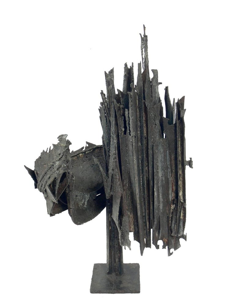 Mid Century Brutalist Sculpture In Distressed Condition For Sale In Atlanta, GA