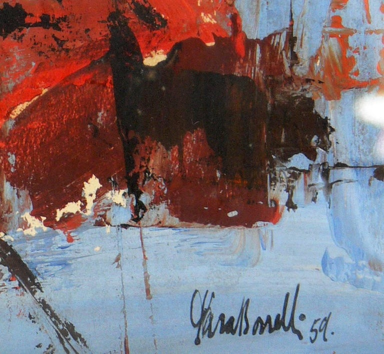 American Midcentury Abstract Painting by Arnold Taraborrelli For Sale