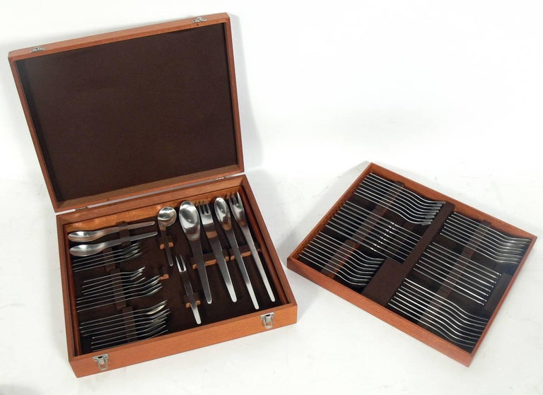 Arne jacobsen aj flatware service in original box for sale at 1stdibs - Arne jacobsen flatware ...