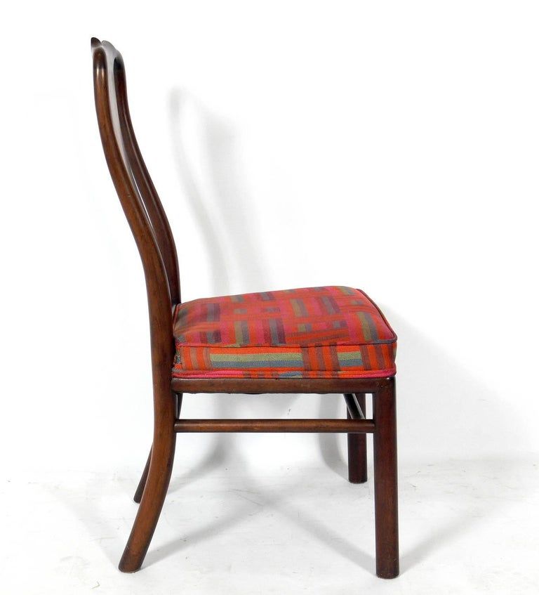 Mid-Century Modern Set of Eight Dining Chairs by Michael Taylor for Baker For Sale