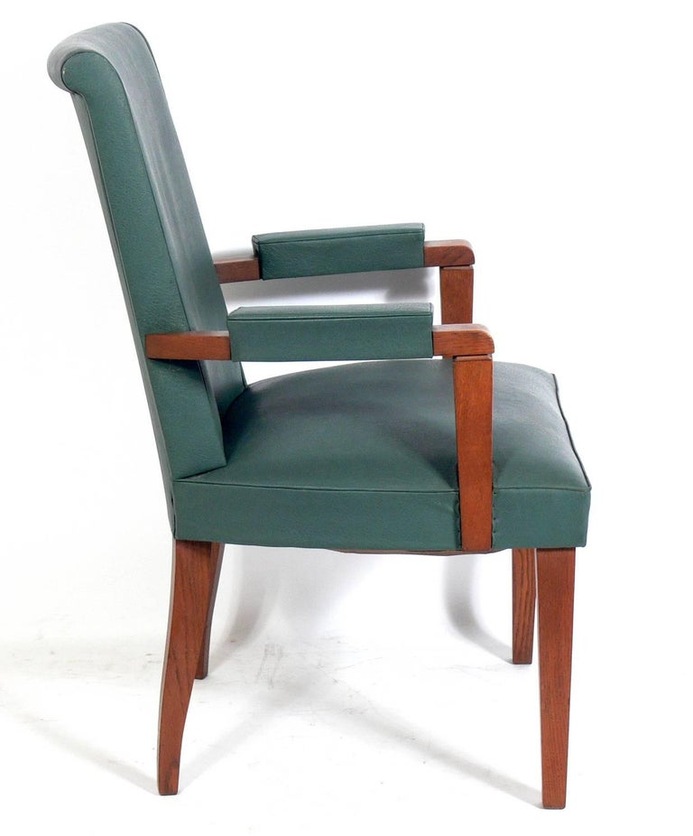 Set of Six French Art Deco Dining Chairs In Good Condition For Sale In Atlanta, GA