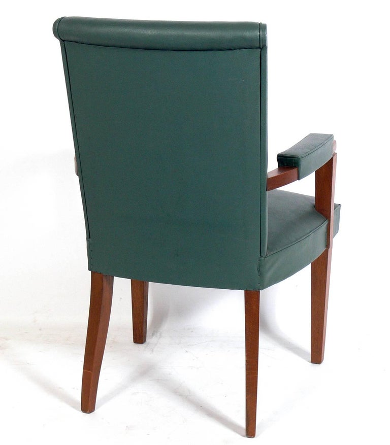 Mid-20th Century Set of Six French Art Deco Dining Chairs For Sale