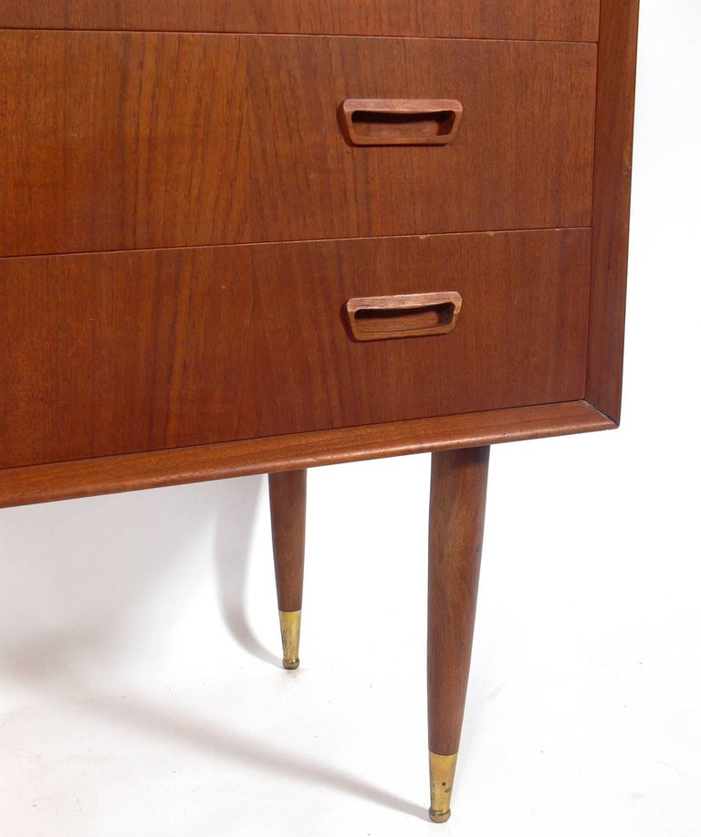 Mid-20th Century Pair of Danish Modern Chests  For Sale