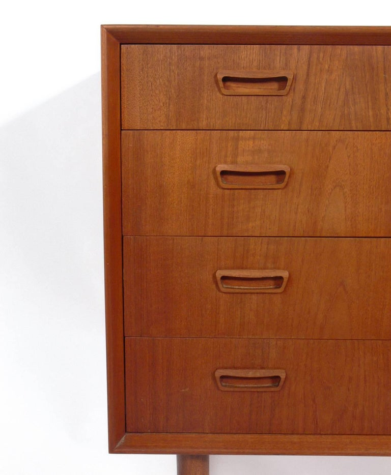 Brass Pair of Danish Modern Chests  For Sale