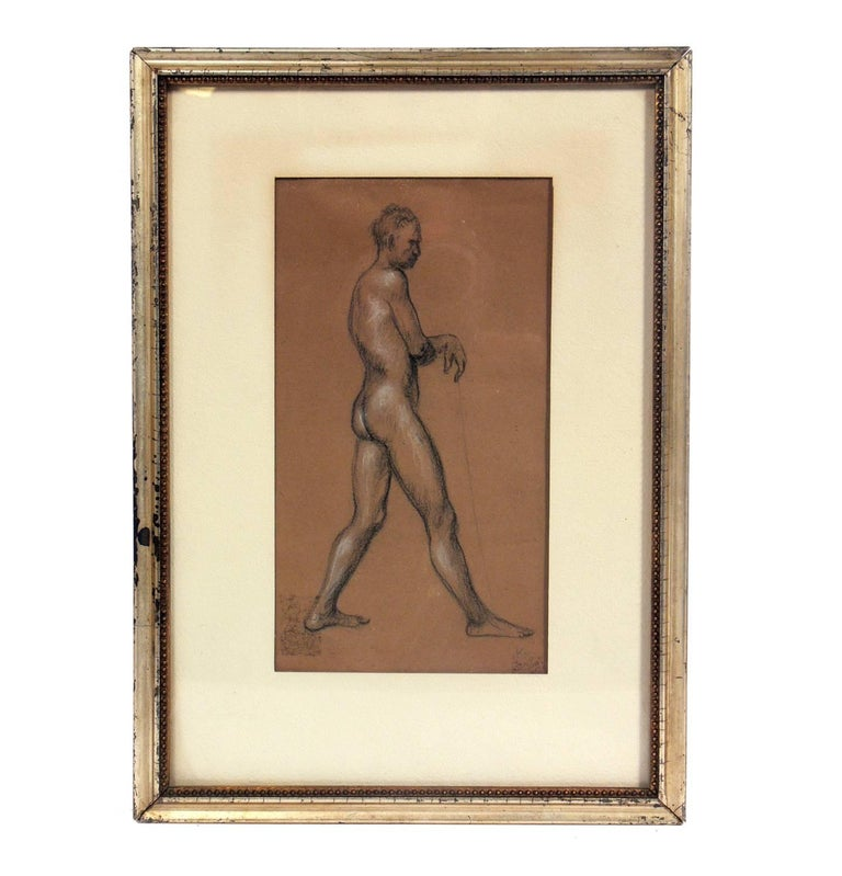 Mid-Century Modern Selection of Figural Nude Drawings or Gallery Wall For Sale