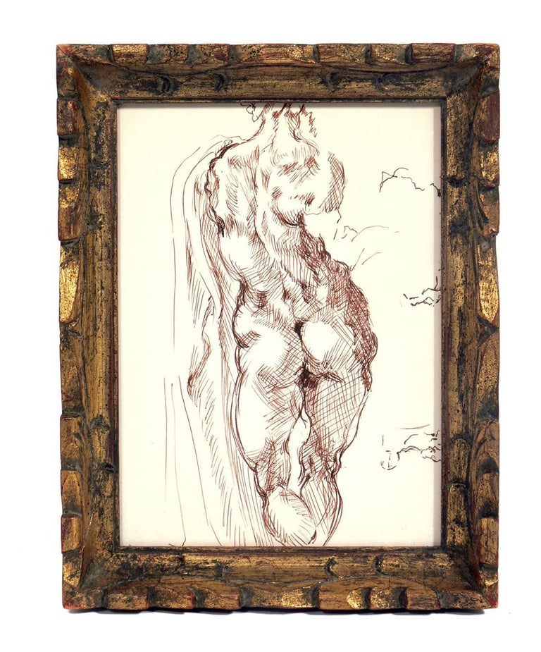 Selection of Figural Nude Drawings or Gallery Wall For Sale 1