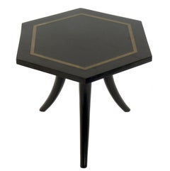 Brass Inlaid Tripod Table