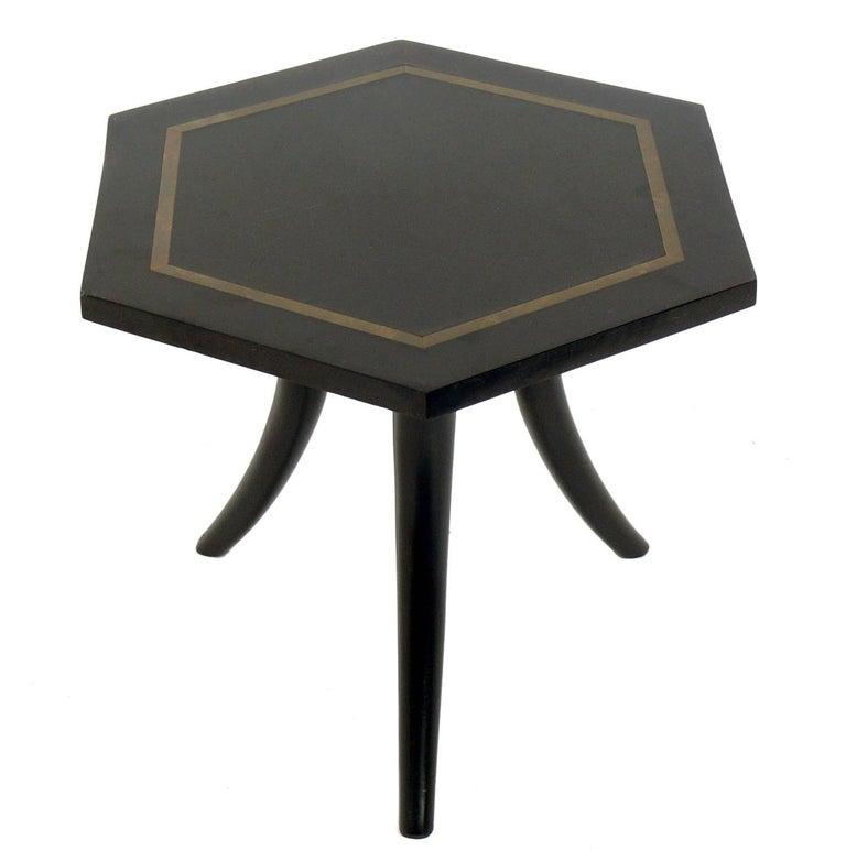 Brass Inlaid Tripod Table