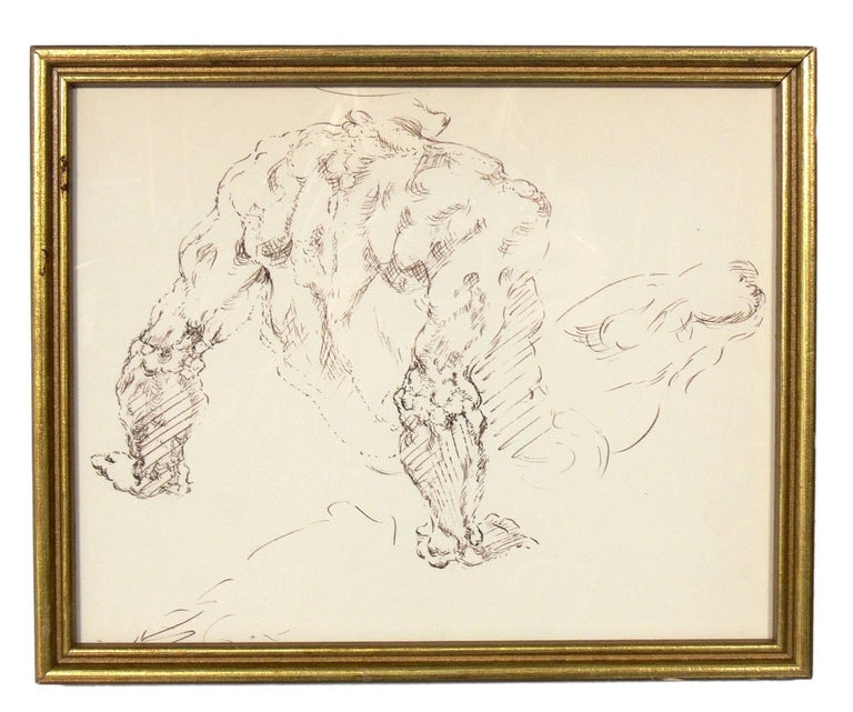 Mid-20th Century Selection of Old Master Style Figural Drawings by Ana Rosa de Ycaza For Sale