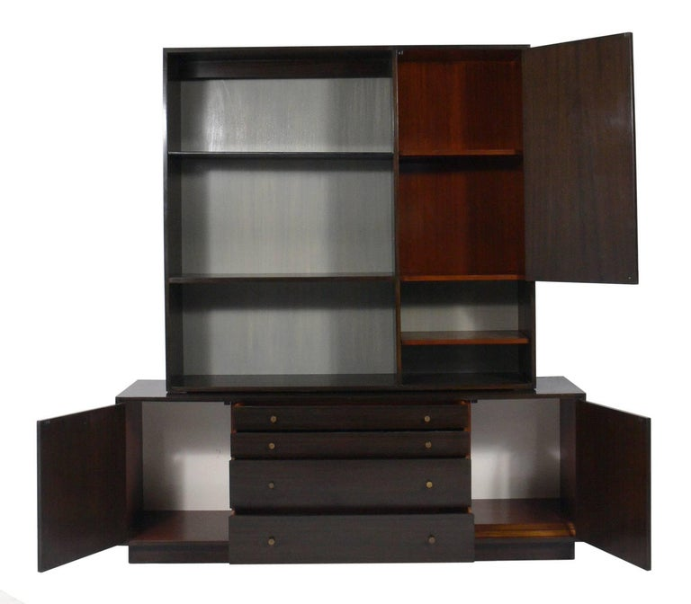 Mid-Century Modern Harvey Probber Two-Part Cabinet or Credenza For Sale