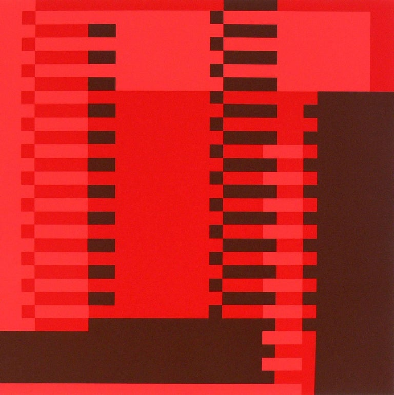 Mid-Century Modern Abstract Lithograph by Josef Albers from Formulation and Articulation For Sale