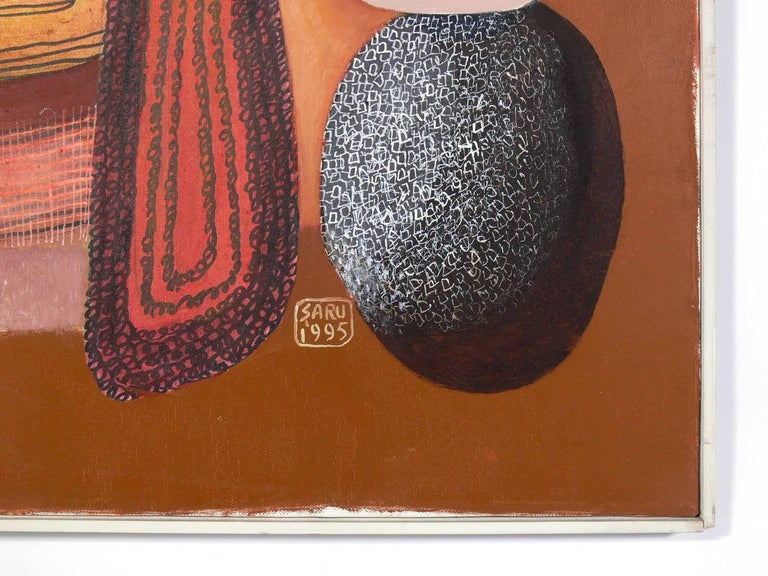 Colorful Abstract Painting by George Saru In Good Condition In Atlanta, GA