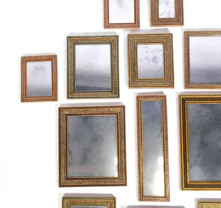 Mid-20th Century Collection of Moroccan Mosaic Framed Mirrors For Sale