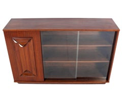 Mid Century Walnut Credenza or Display Cabinet