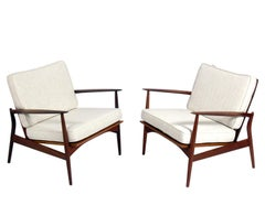 Ib Kofod Larsen Danish Modern Lounge Chairs