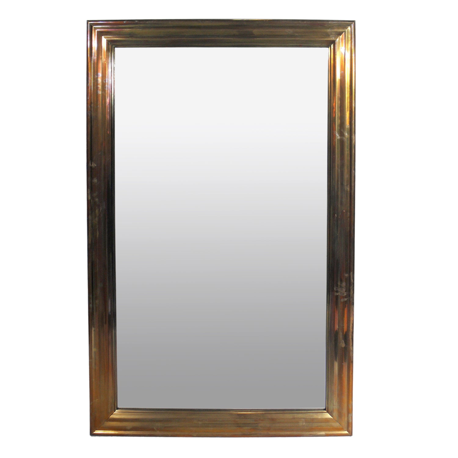 Large-Scale Brass Mirror
