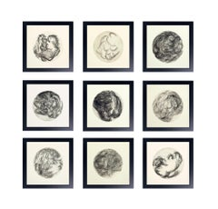 Group of Modernist Black and White Lithographs by Ana Rosa de Ycaza