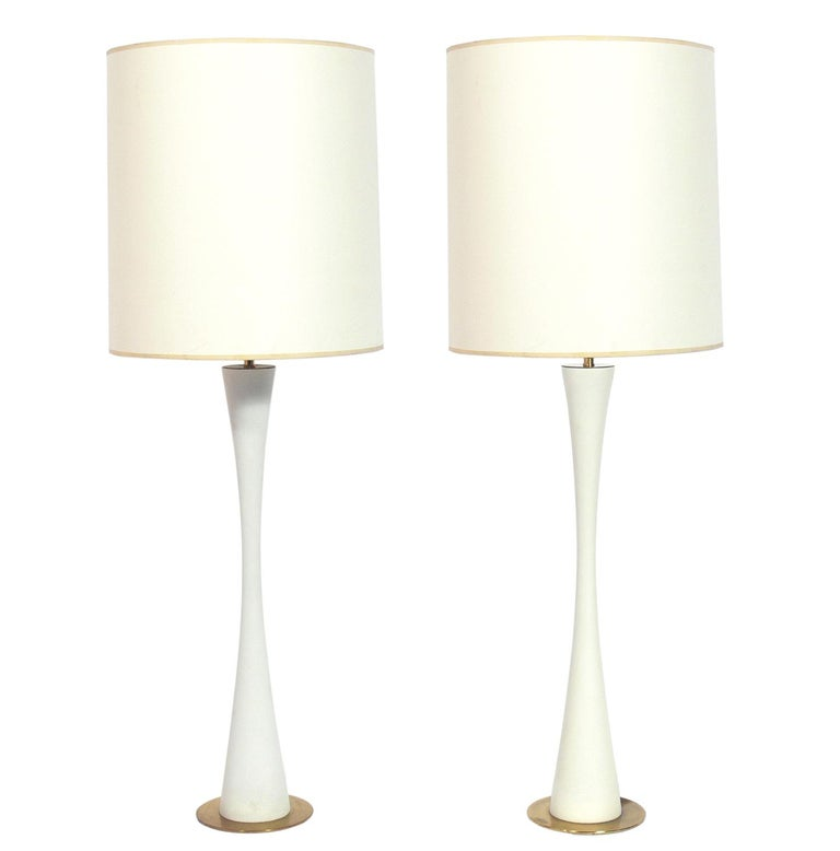 Pair of Curvaceous Lamps by Stewart Ross James