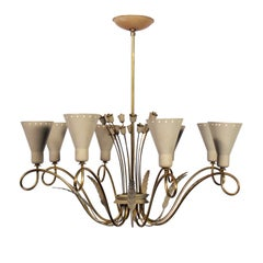 Elegant Midcentury Chandelier in the manner of Paavo Tynell