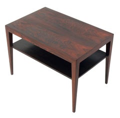 Danish Modern Rosewood End Table by Severin Hansen