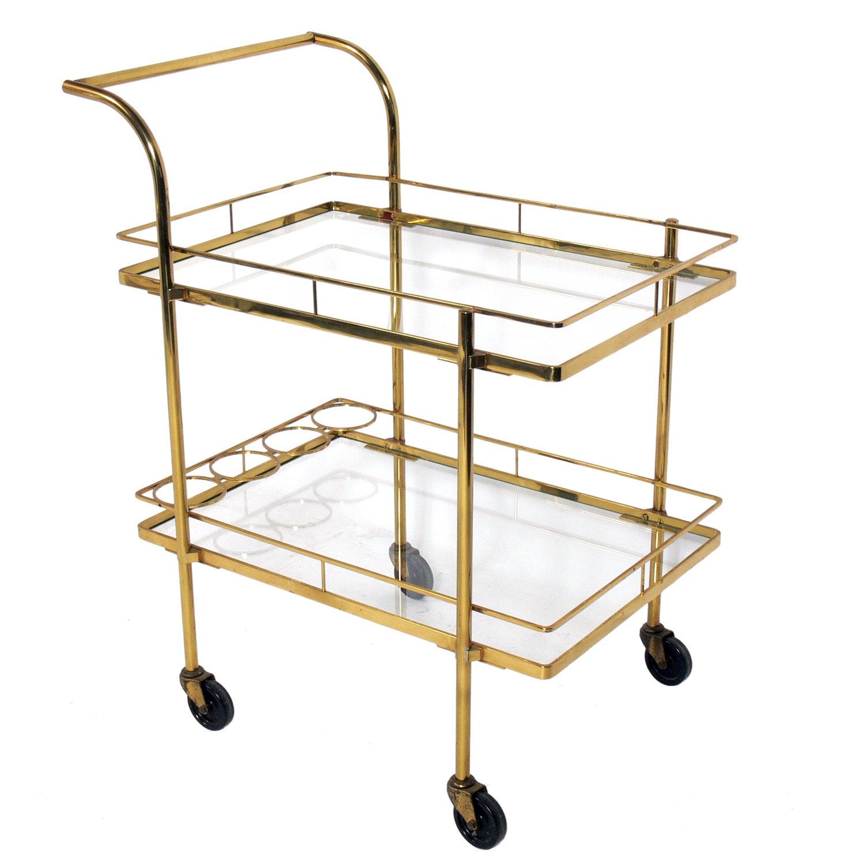Midcentury Brass Bar Cart