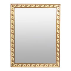 Elegant Ivory and Gilt Mirror