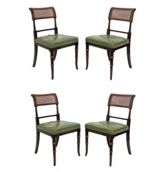 Set of Four Regency Faux Rosewood Dining Chairs