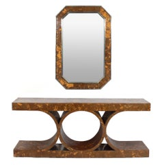 Karl Springer JMF Console and Mirror