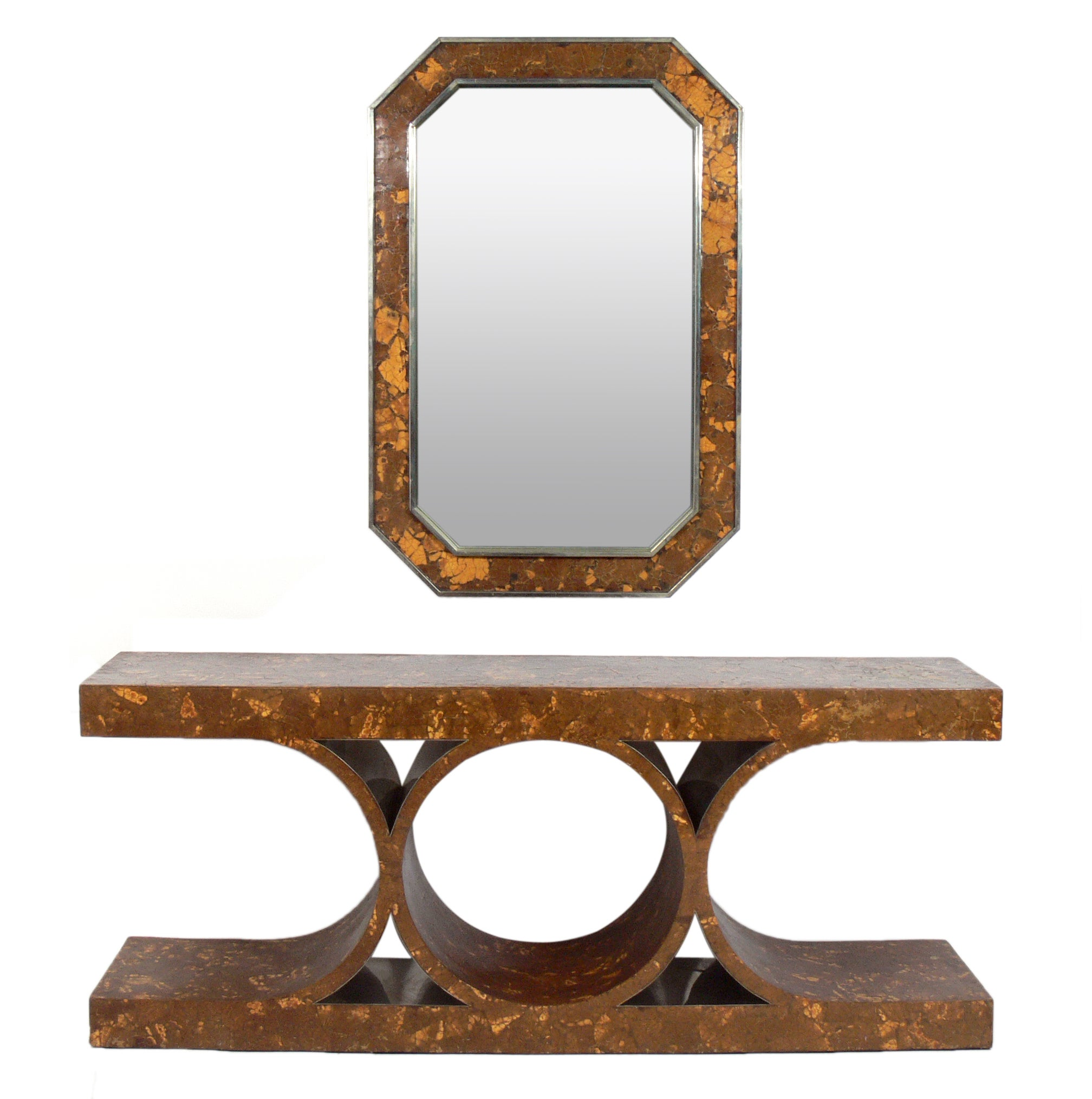 Karl Springer Style JMF Console and Mirror