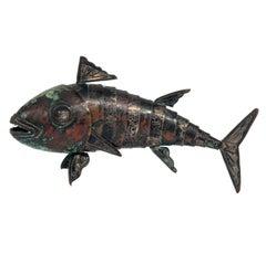 Articulated Fish Sculpture by Graziella Laffi