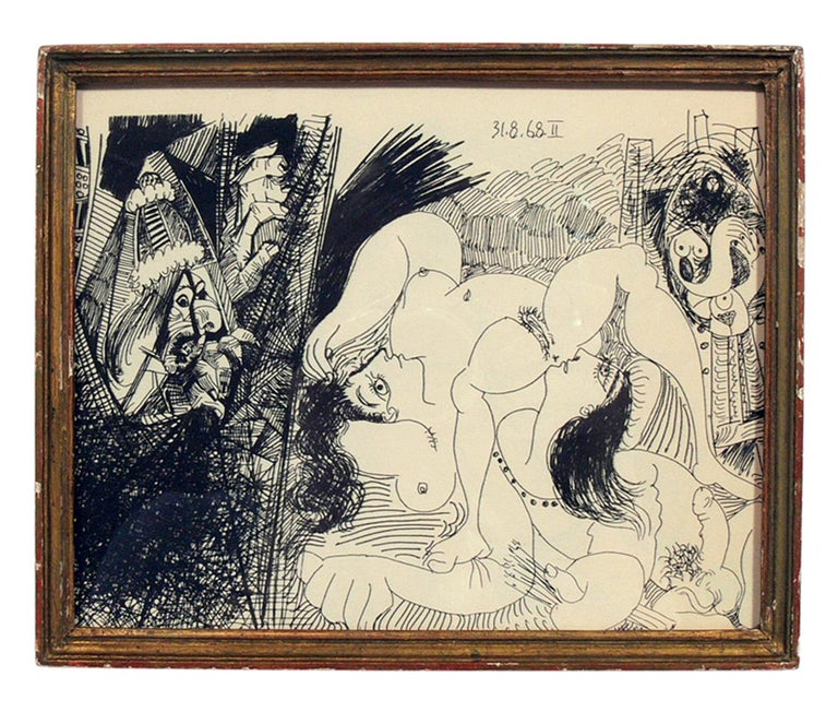 French Selection of Pablo Picasso Erotic Prints For Sale