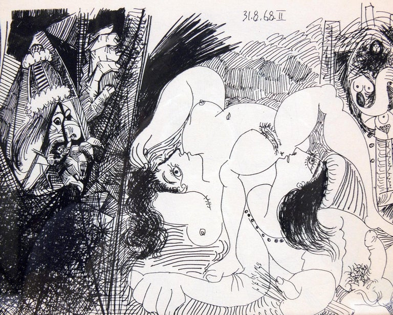 Selection of Pablo Picasso Erotic Prints In Good Condition For Sale In Atlanta, GA
