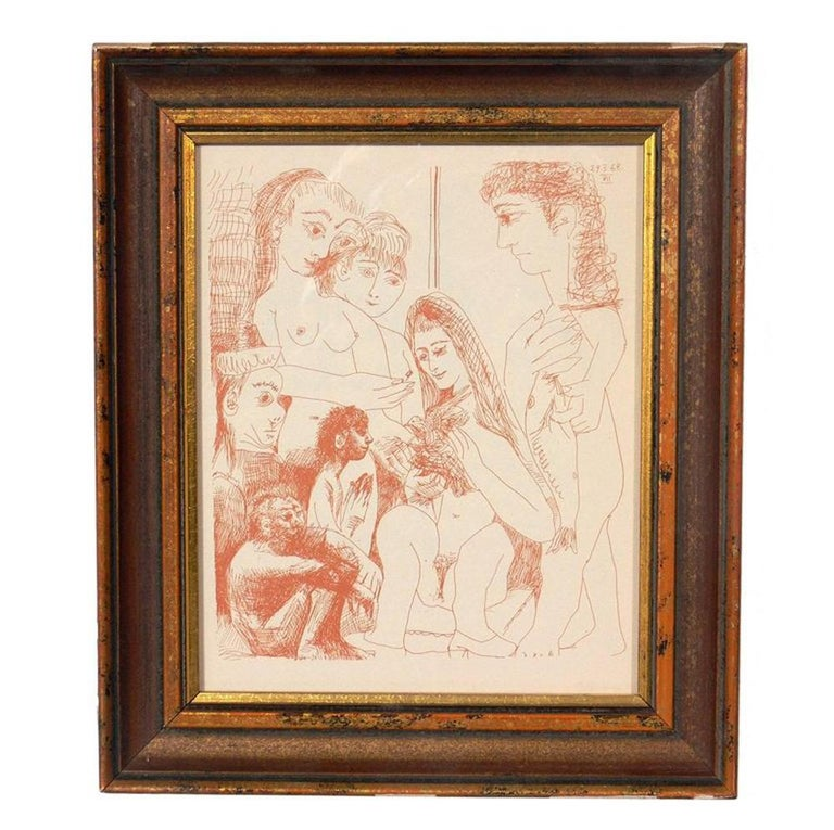 Mid-20th Century Selection of Pablo Picasso Erotic Prints For Sale