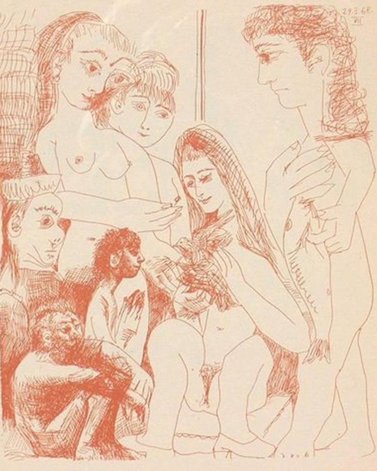 Glass Selection of Pablo Picasso Erotic Prints For Sale