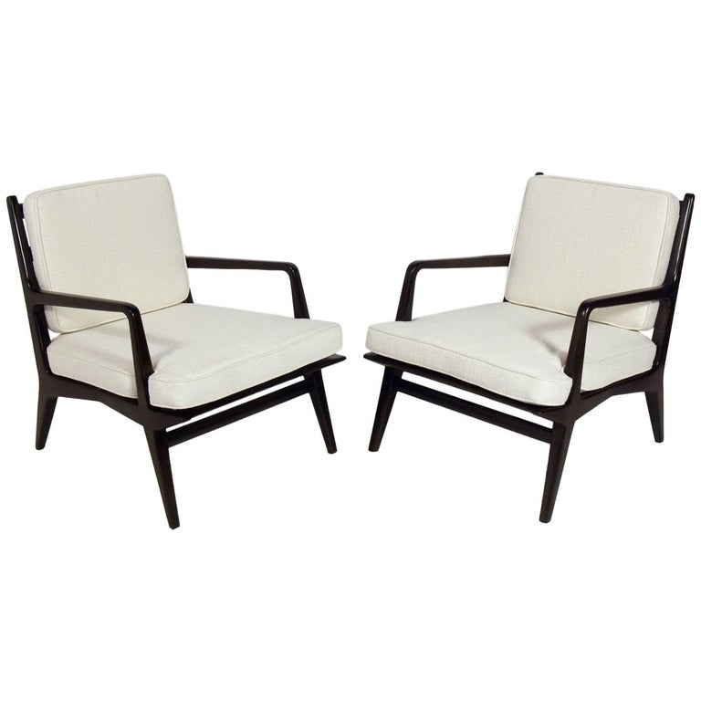 Pair of Lounge Chairs by Carlo di Carli For Sale