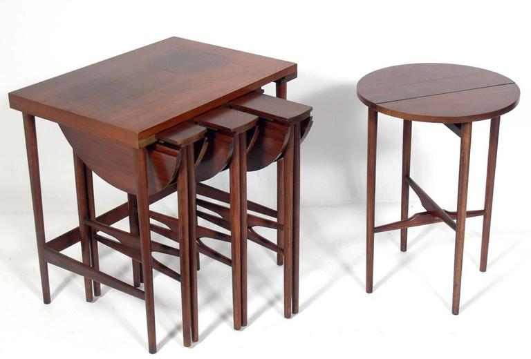 Mid-Century Modern Bertha Schaefer Nesting Tables  For Sale