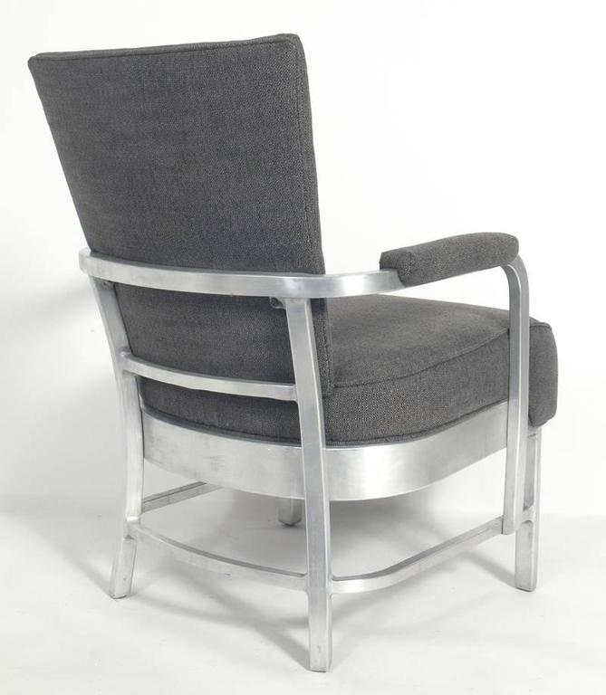 Pair Of Goodform Art Deco Aluminum Lounge Chairs At 1stdibs