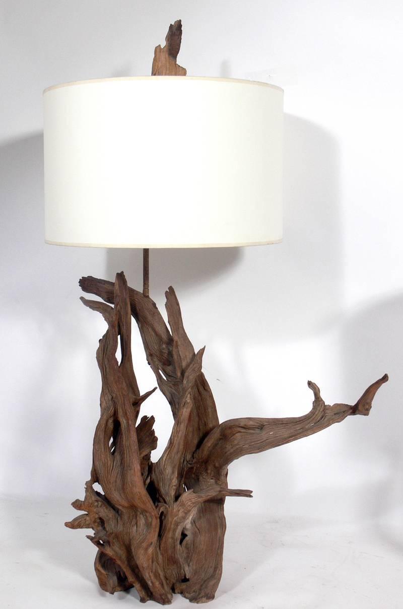 selection of sculptural driftwood lamps for sale at 1stdibs. Black Bedroom Furniture Sets. Home Design Ideas