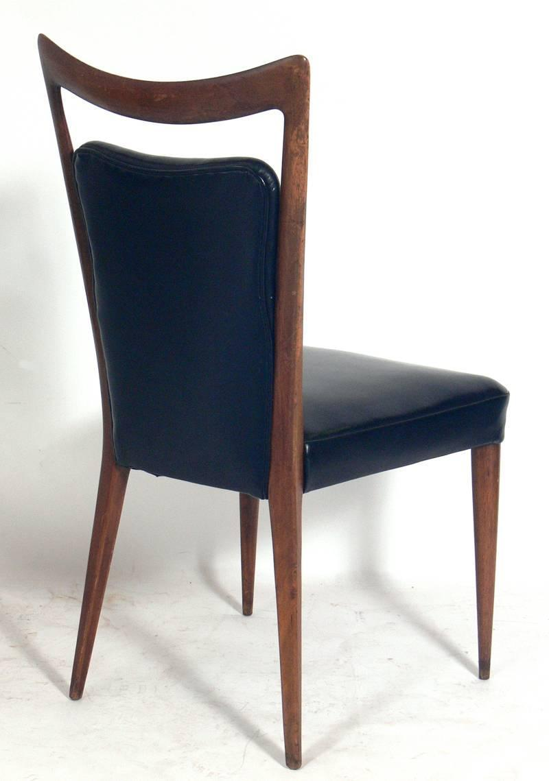 set of four italian dining chairs by melchiorre bega at 1stdibs