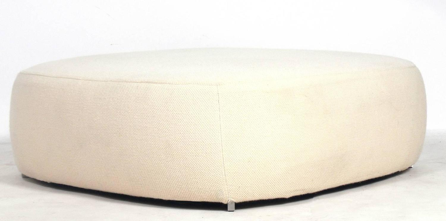 large scale square modern ottoman by piero lissoni for fritz hansen at 1stdibs