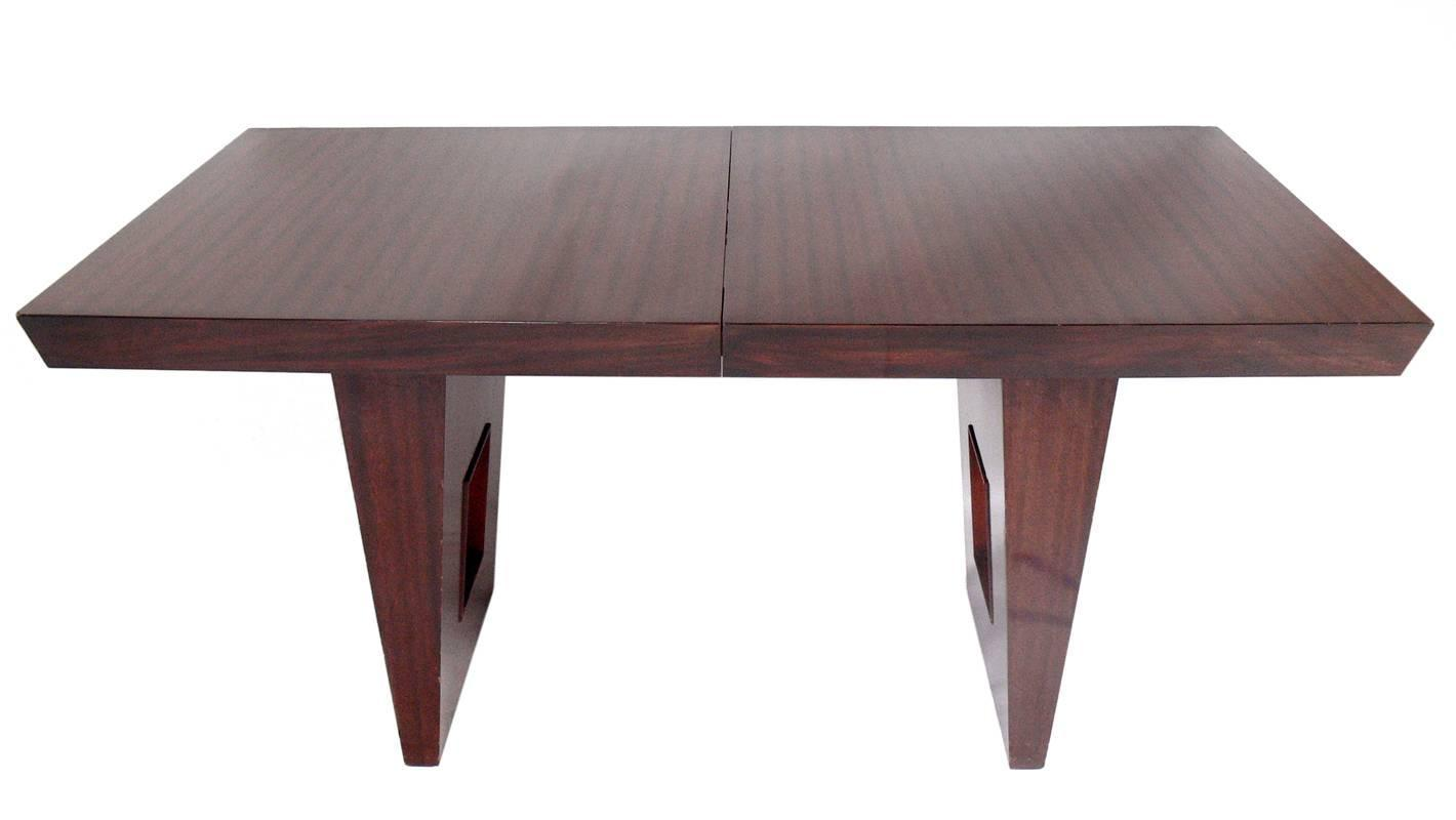 Elegant Modern Mahogany Dining Table At 1stdibs