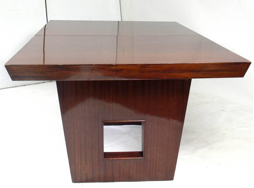 Elegant Modern Mahogany Dining Table At 1stdibs